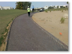 Construction of Car path-(Emirates Hills Golf Course)